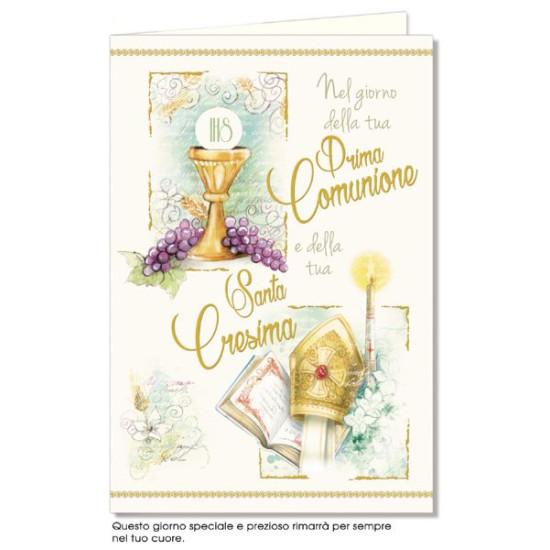 Biglietti Comunione con Cresima 12pz