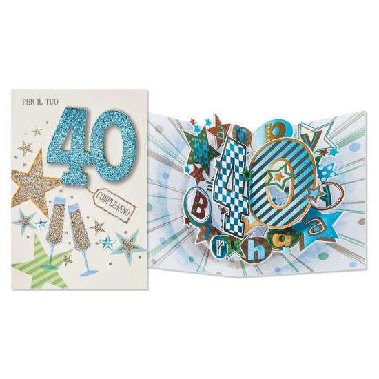 Biglietto 40 ANNI super pop-up 6pz