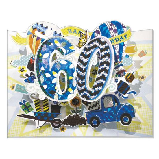 Biglietto 60 ANNI super pop-up 6pz