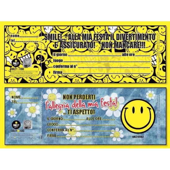 Blocchetti invito festa SMILEY 24pz