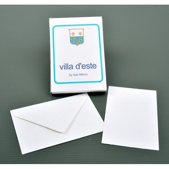 Biglietto e busta bianco Villa d'Este mis.4 10pz
