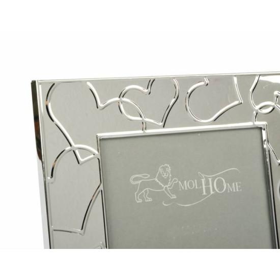 Cornice silver CUORI 10x15cm