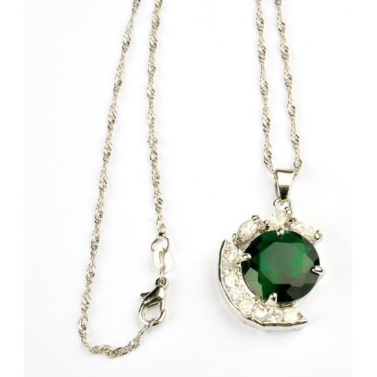 Collana pendente smeraldo