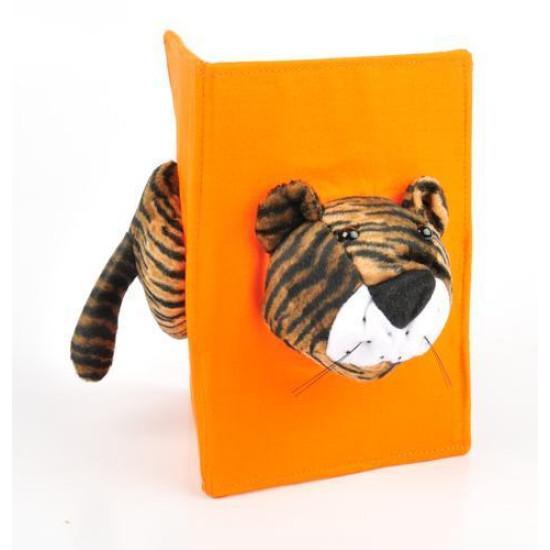 Cornice safari doppia tessuto e pelouches 10x15 tigre