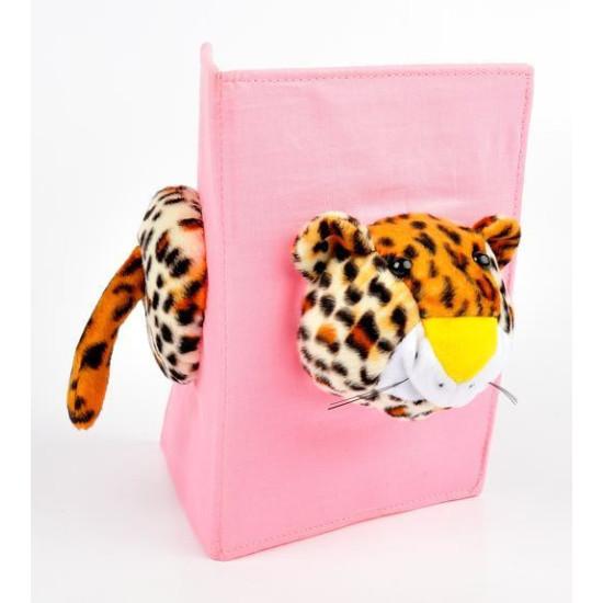 Cornice safari doppia tessuto e pelouches 13x18 leopardo