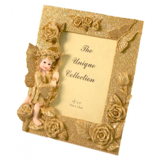 Cornice 9x13 portafoto glitter oro