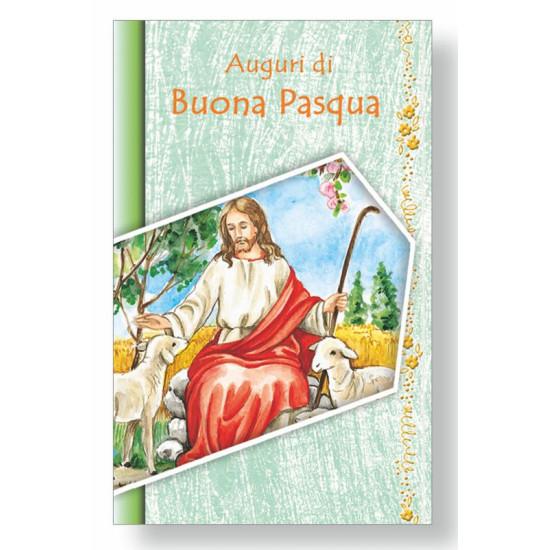 Biglietto PASQUA sacra  8,5x13,5cm  40pz