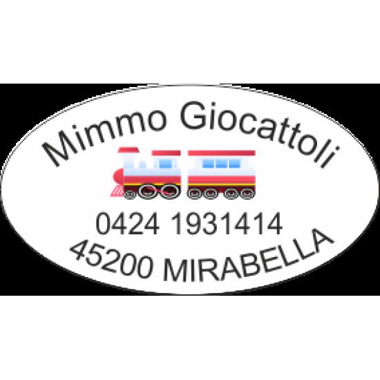 Etichette personalizzate ovali bianche 36x20mm
