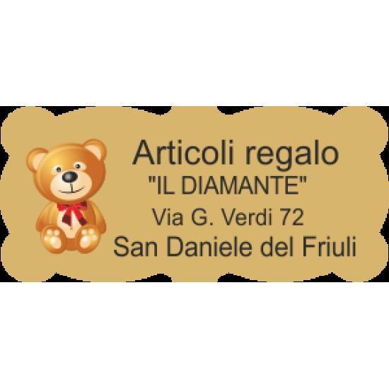 Etichette personalizzate sagomate oro 45x21mm