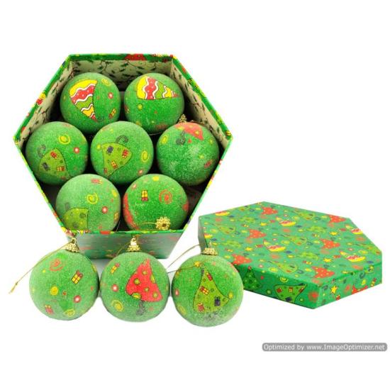 Sfere di NATALE 14pz box verde