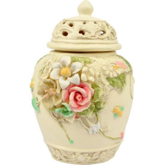 Vaso ceramica cm 15 tonalità crema