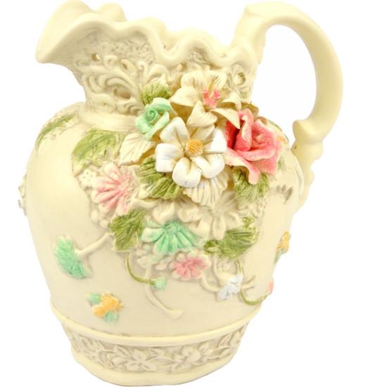 Anfora ceramica cm17 tonalità crema
