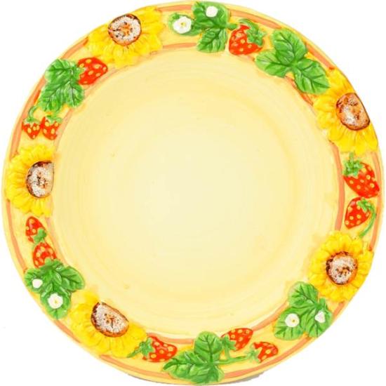 Set 6 piatti fioriti cm 20