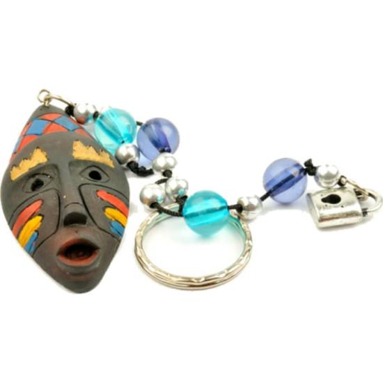 Portachiavi maschera etnico